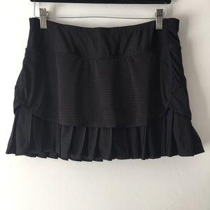 Athleta Black Tennis Skirt M